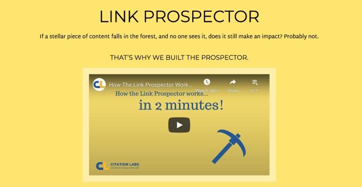 Link Prospector Landing Page Snippet