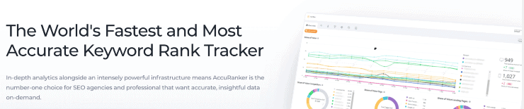 AccuRanker Landing Page Snippet - SpyFu Alternatives