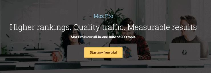 MOZ Hero Image - SEMrush Competitors Alternatives