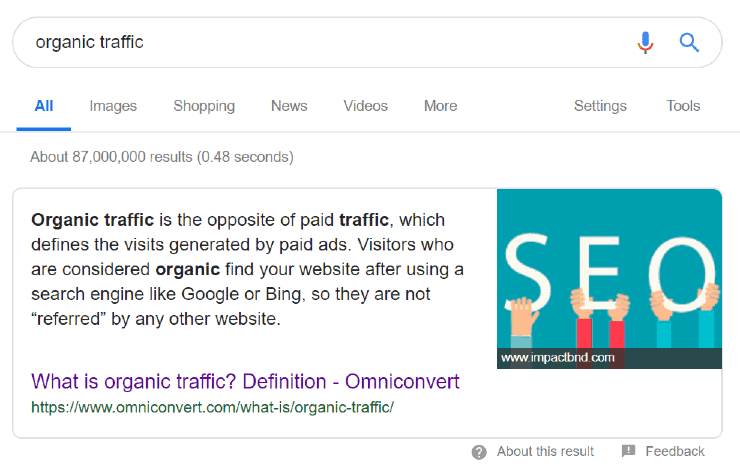 Omniconvert Top Search Result for Organic Traffic - on page seo checklist