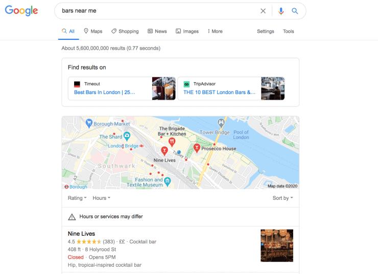 Optimize near me searches