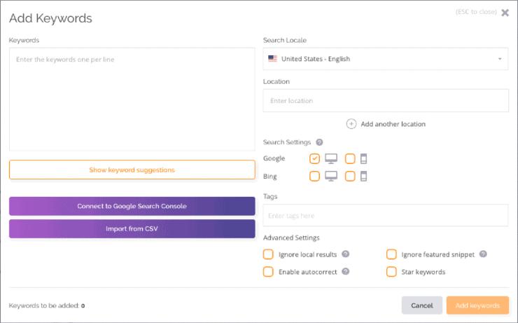 AccuRanker Keyword Tracker - SEO Tool kit