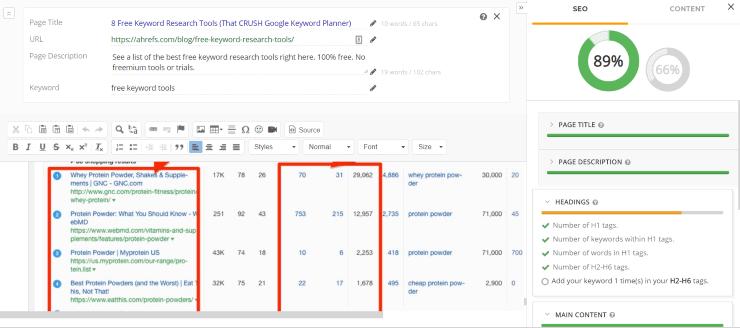 webtexttool competitor analysis - SEO Tool kit