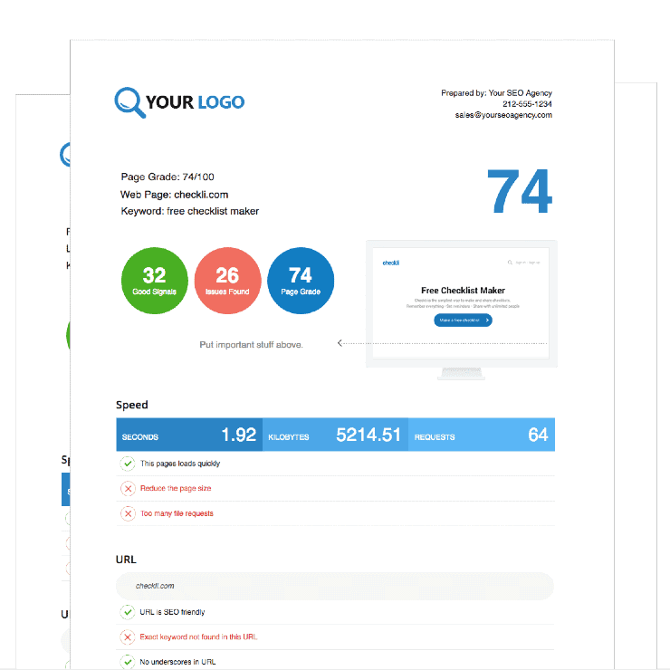 MySiteAuditor Sample Dashboard - Best SEO Audit Tools