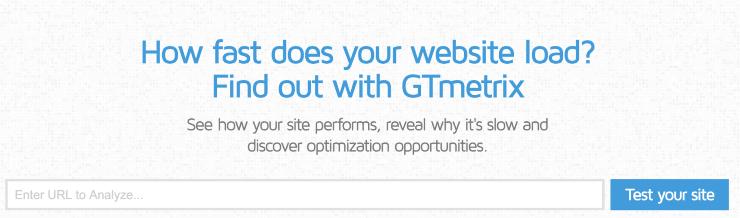 GTmetrix Landing Page Snippet