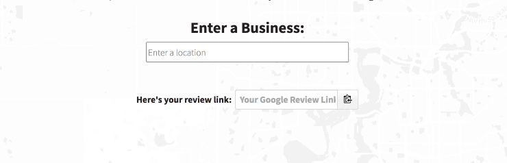 Google Review Link Generator Landing Page Snippet