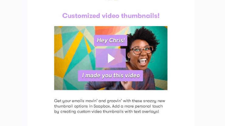 Customized video thumbnails - CTAs
