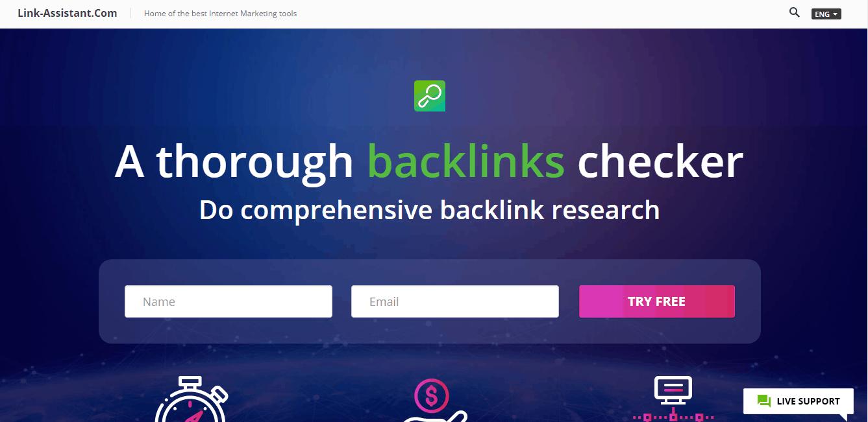 SEO Spyglass Landing Page - Backlinks