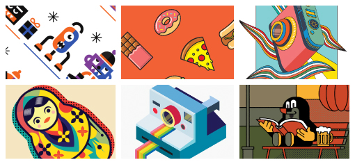 Selected illustrations and icons, 2017 - 2018