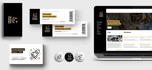 Astroturystyka - Visual identity & Website - a diploma project