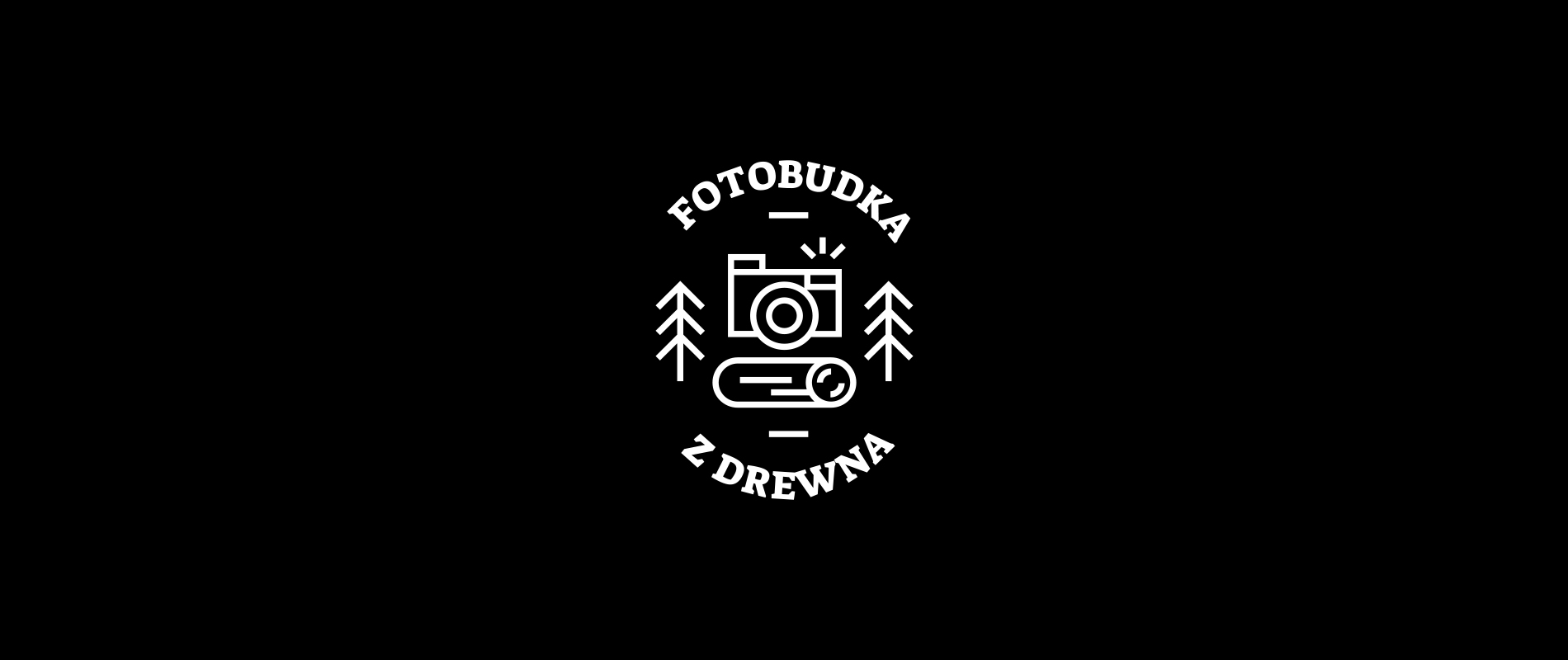 Fotobudka - logo on a black background