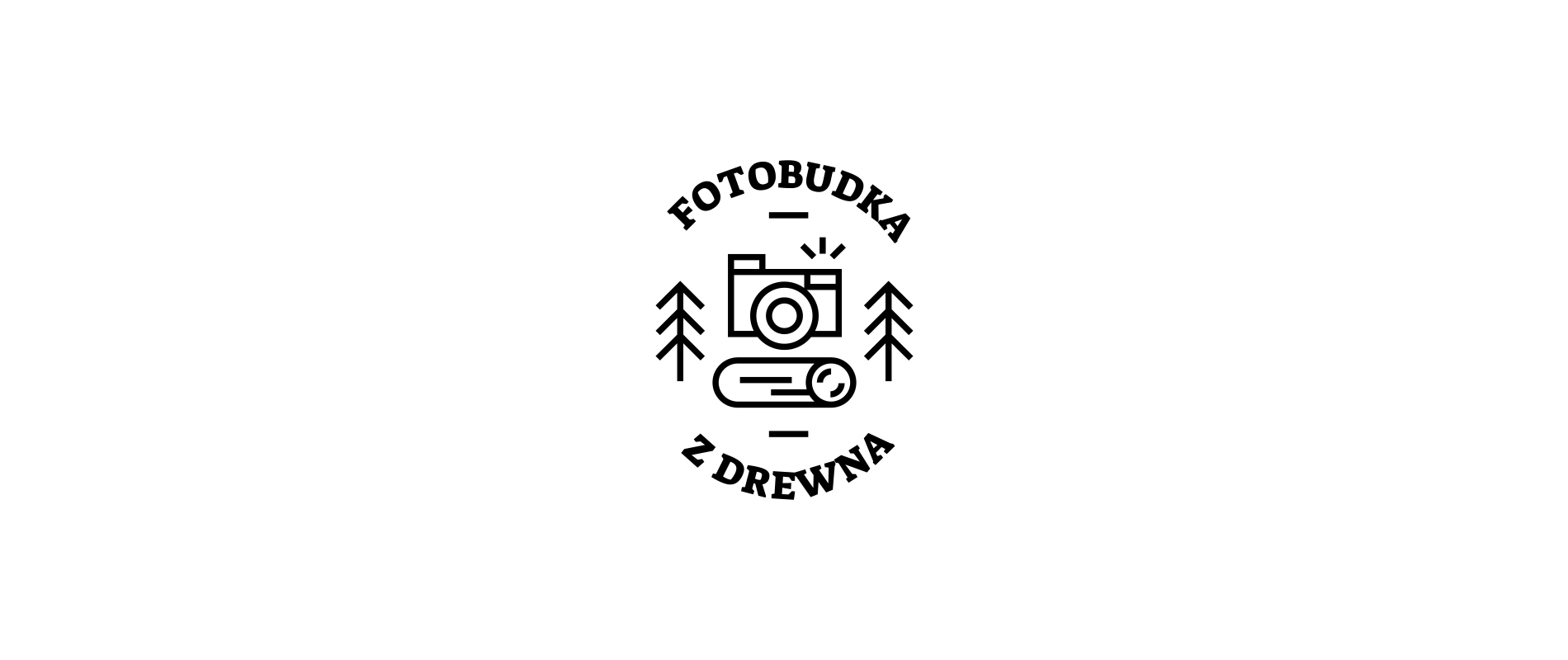 Fotobudka - logo on a white background