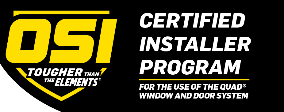 M&M window solutions is an OSI certified installer