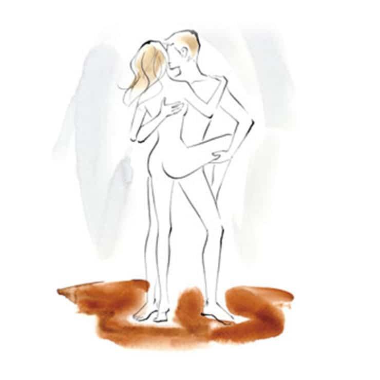 Tư thế vũ công ballet giúp cả hai nhìn thấy nhau