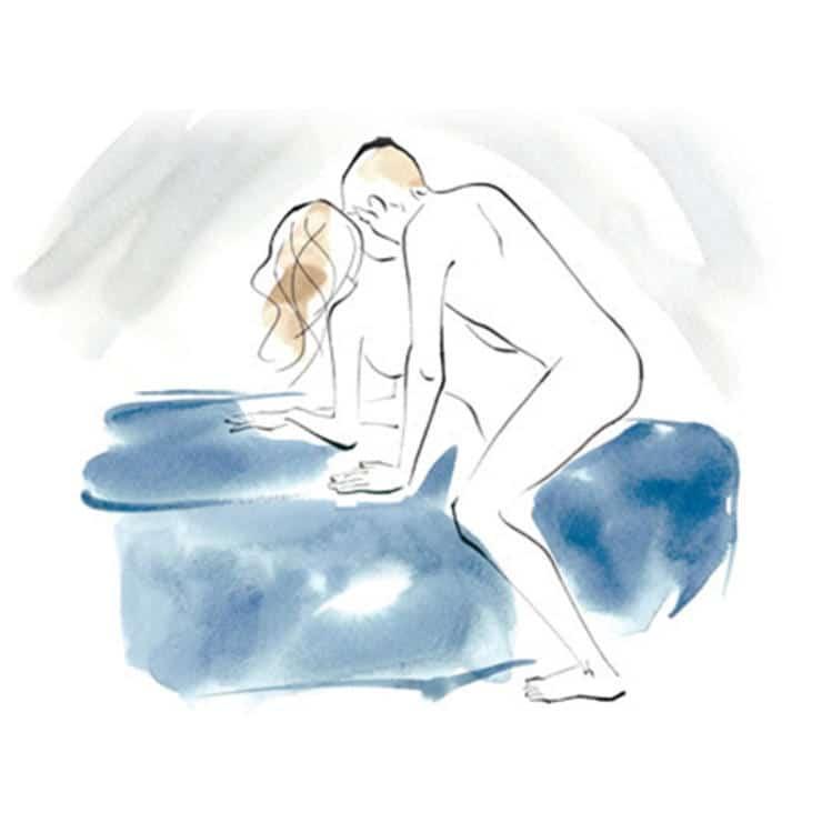 Tư thế vít nút chai là khi bạn nữ ép hai đùi vào sẽ tạo cảm giác khít hơn