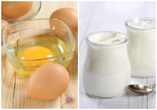 mặt nạ sữa chua trứng gà