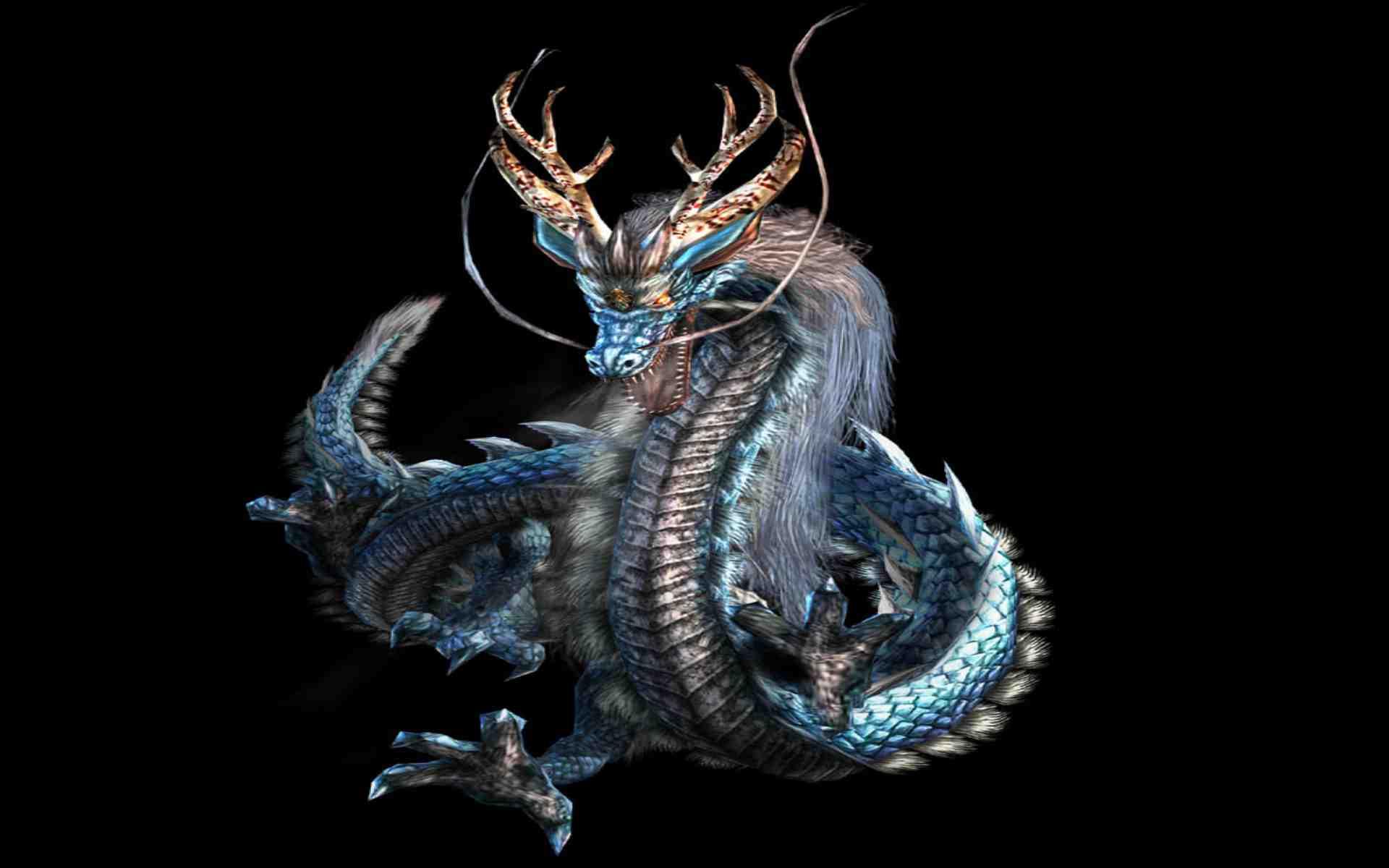 ảnh Nền đen Hình Con Rồng đẹp