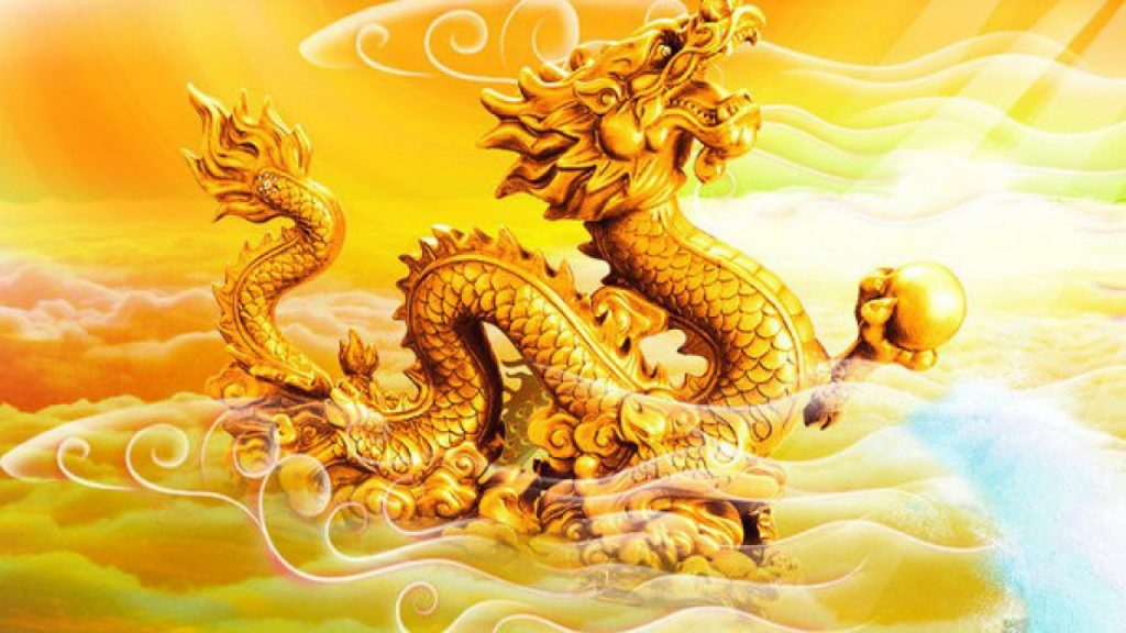 Hình Nền Con Rồng Vàng đẹp