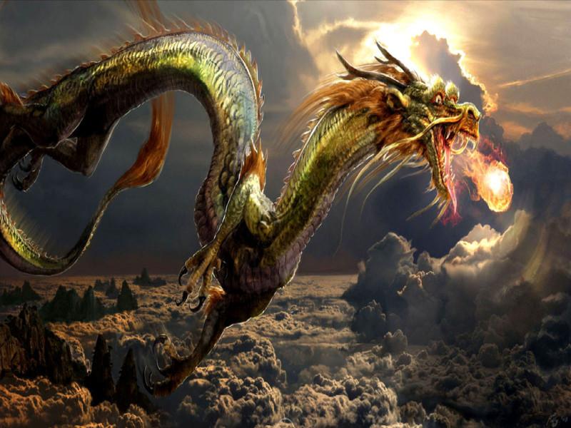 Hình Nền Con Rồng đang Khà Lửa