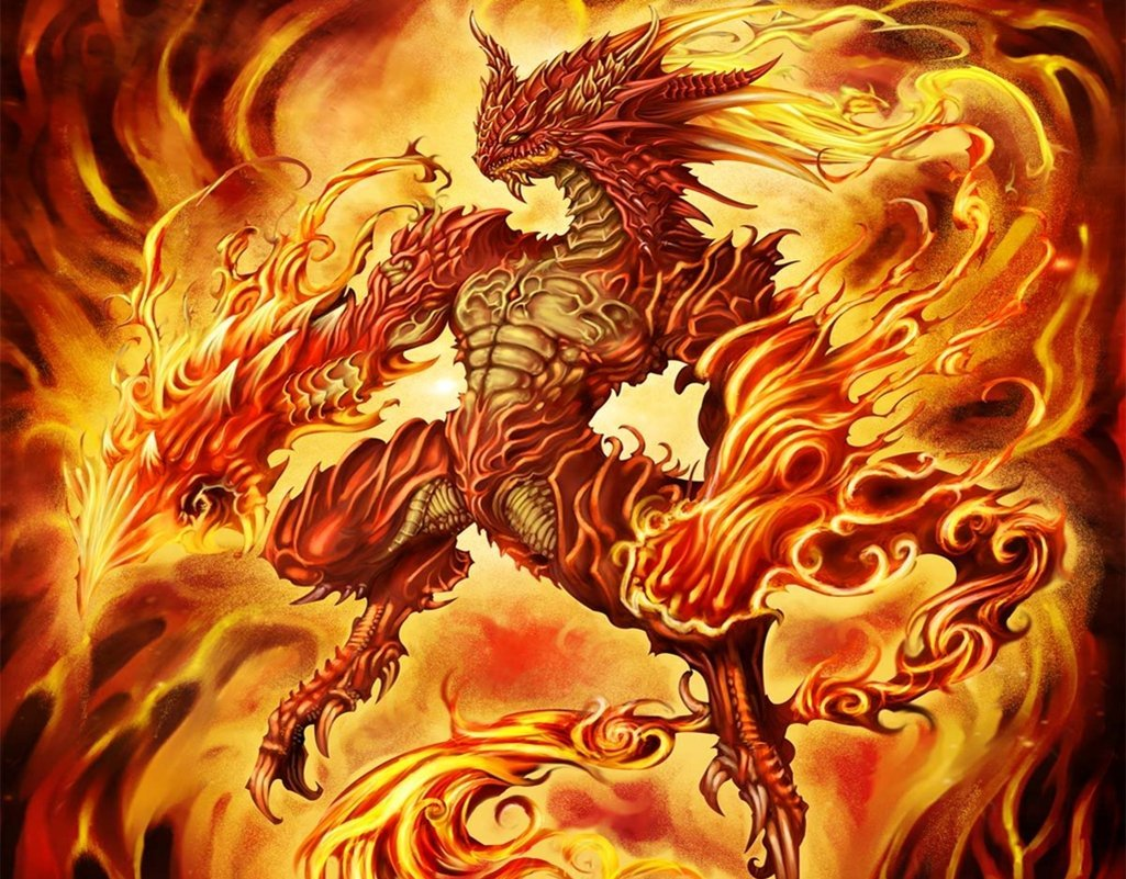 Hình rồng lửa đẹp dũng mãnh