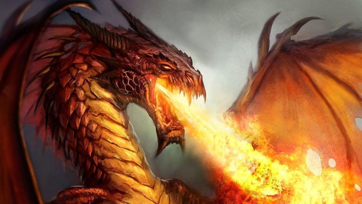 Hình rồng lửa đẹp nhất 3D