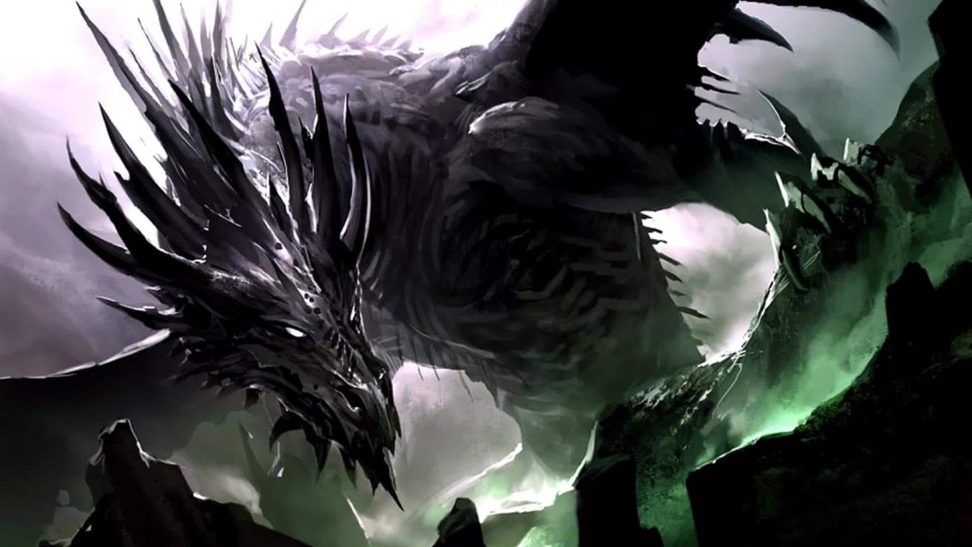 Hình rồng đen đẹp