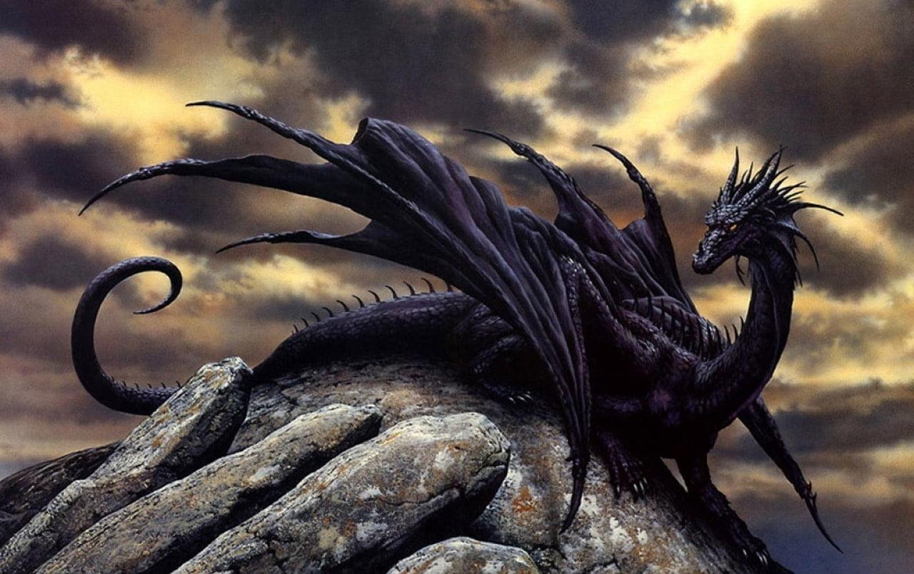 Hình rồng đen ngầu chất