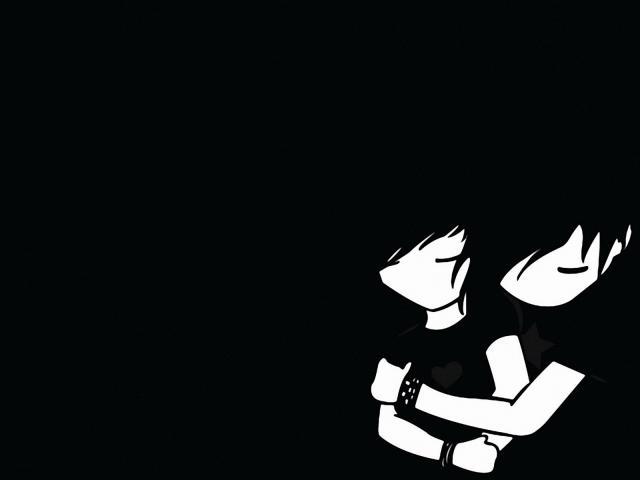 Hình ảnh màu đen về tình yêu