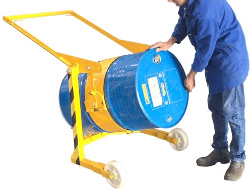 Gire manualmente o tambor com travamento na posição horizontal para derramamento do conteúdo.
