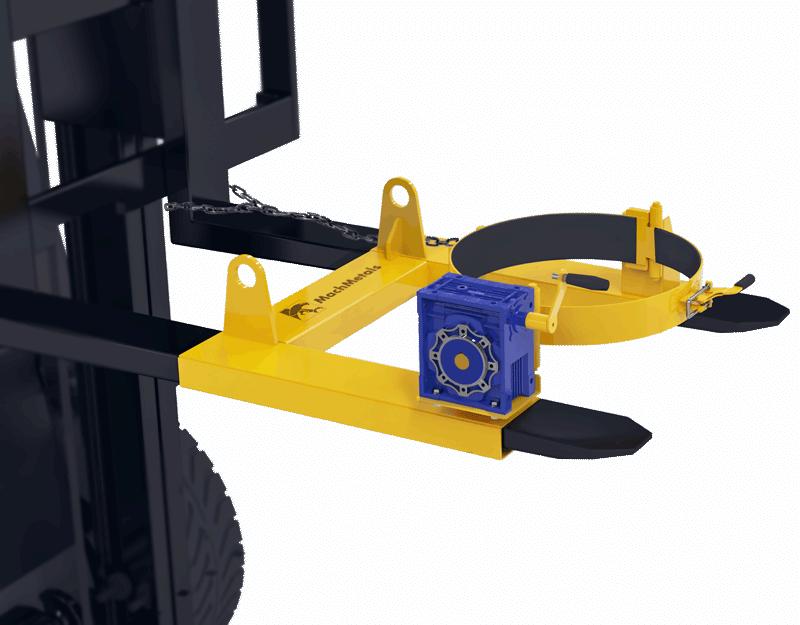 Indicado para giro controlado de tambores com mais segurança, mais praticidade e redução drástica de esforço físico. Utilize o DGT na sua empilhadeira e acabe com os problemas de segurança na movimentação de tambores.