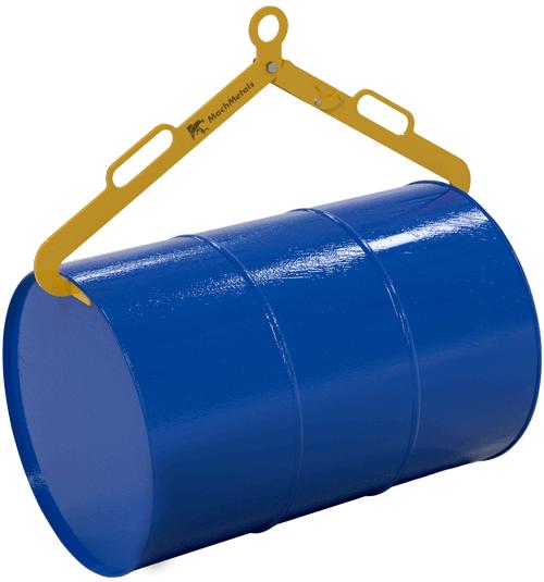 Equipamento ideal para elevação de tambores em aço de até 200 litros com segurança. Capacidade para até 300 kg, pode ser utilizada com talhas, guindastes e ganchos em geral.