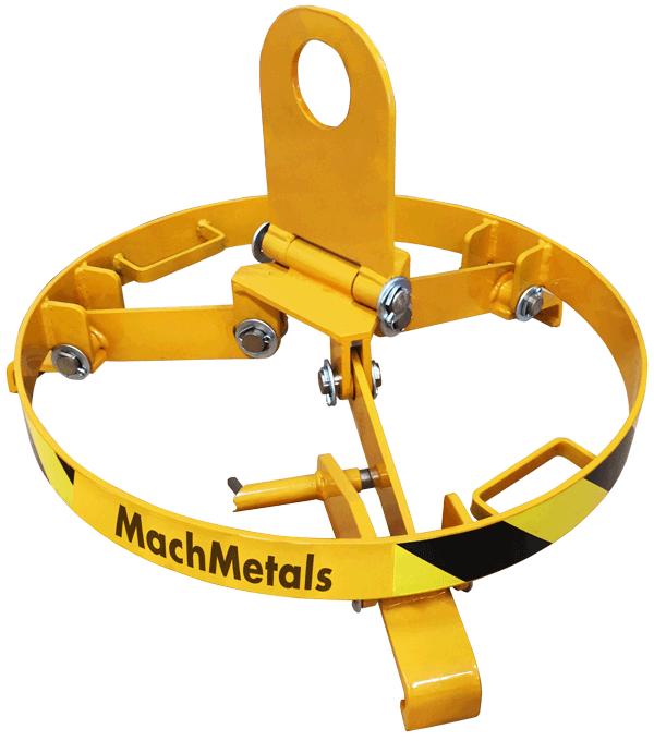 Com 3 pontos de fixação, olhal articulado e manípulo de travamento. Ideal para elevação de tambores de até 200 litros com mais estabilidade e segurança.