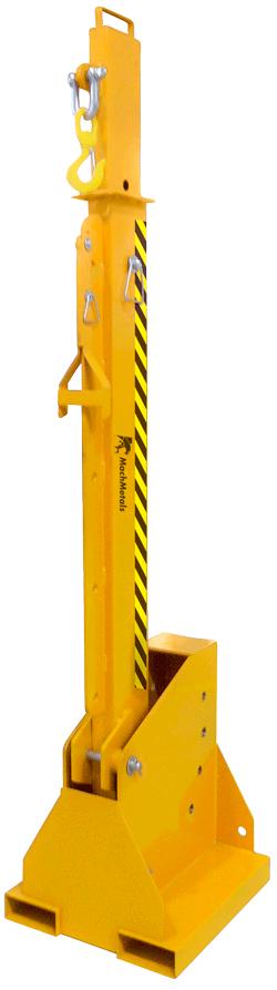 Após o uso a Lança é armazenada na posição vertical ocupando o mínimo de espaço possível.