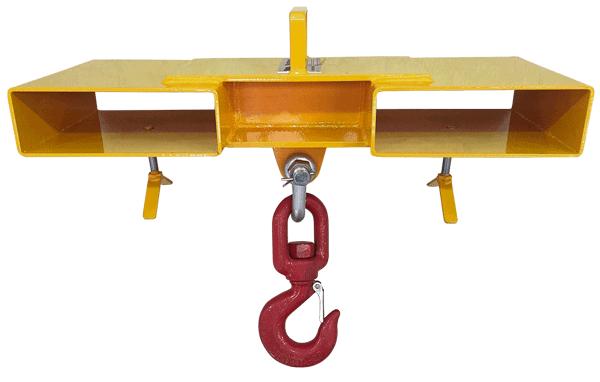 Fabricamos o Gancho com Suporte Duplo inteiramente em aço reforçado que garante uma estrutura robusta e durável.