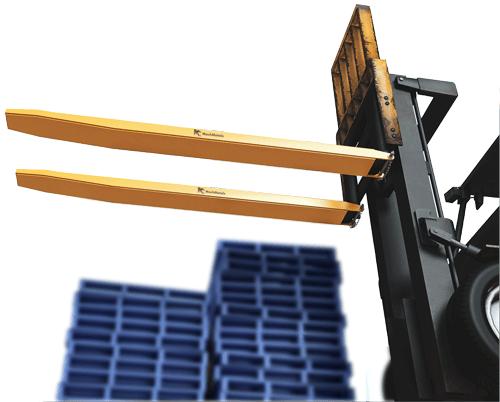 Com o diferencial de ser totalmente fechado na parte inferior, este modelo revestirá o garfo completamente garantindo mais estabilidade ao transportar cargas mais longas.