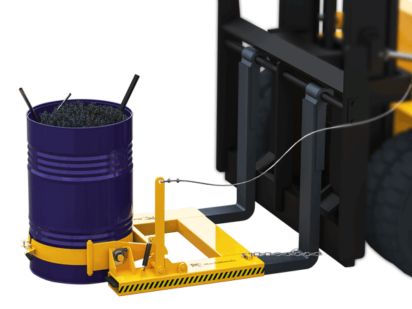 Fabricamos o Tombador de Tambor com cinta robusta de aço com grampo para travamento e regulagem de diâmetro. Na parte interna utilizamos uma proteção emborrachada para evitar rasuras no tambor e proporcionar mais aderência.