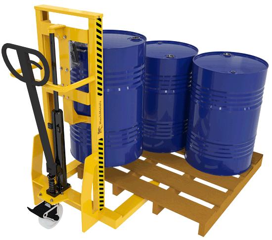 Este modelo é indicado para situações que os tambores são armazenados no chão ou sobre paletes.