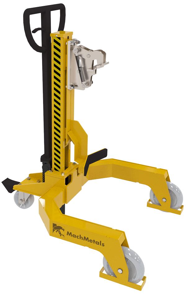 Este carrinho é a solução perfeita para movimentação segura de tambores sem precisar de outro equipamento auxiliar como empilhadeiras ou paleteiras.