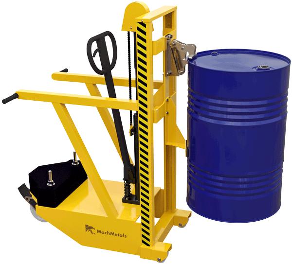 Colete tambores sobre plataformas, paletes fechados e demais superfícies com elevação. Sem precisar de equipamentos complementares ou empilhadeiras.