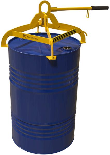 Com 4 pontos de fixação, olhal para ganchos e barra de manipulação. Ideal para elevação de tambores de até 200 litros com mais estabilidade e segurança.