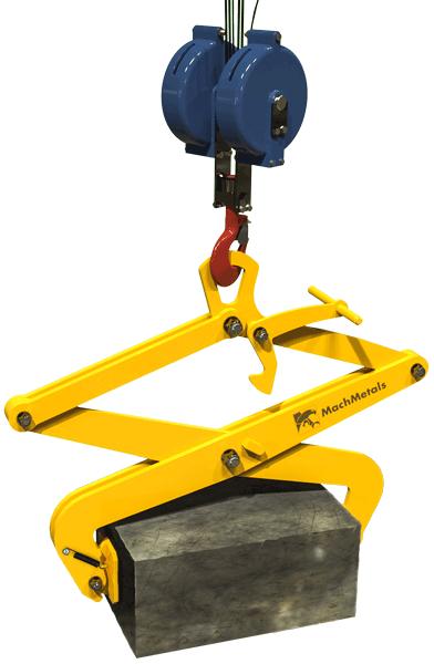 Garra para içamento e transporte de blocos maciços com mais segurança e agilidade.