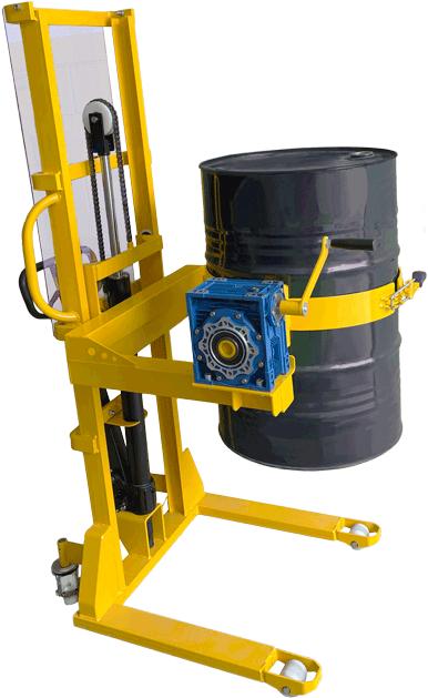 Realize o giro controlado de tambores sem precisar de outro equipamento auxiliar.
