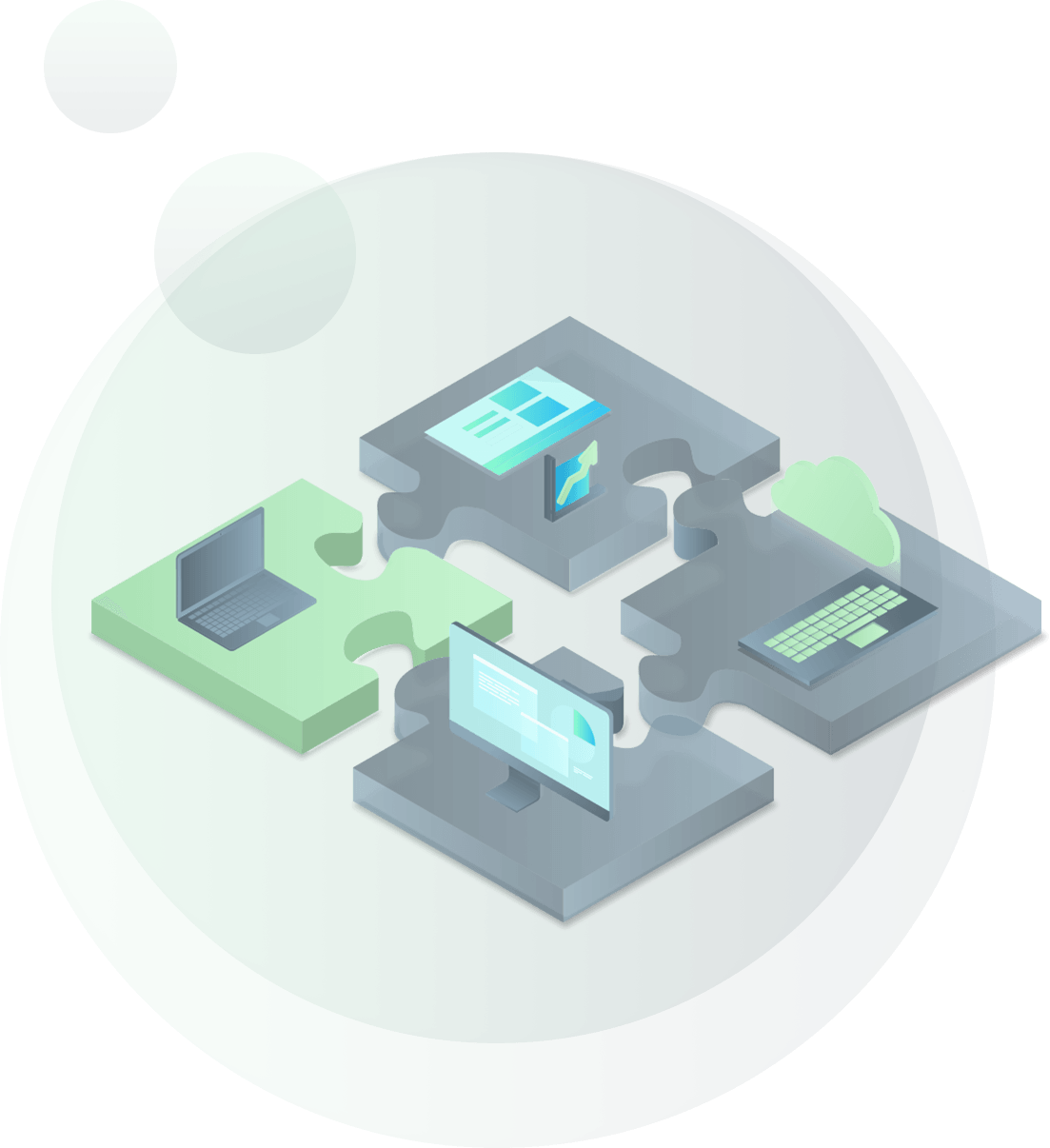 illustration of technology puzzle pieces
