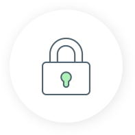 security icon with a padlock