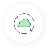 backup icon with cloud and circle arrows