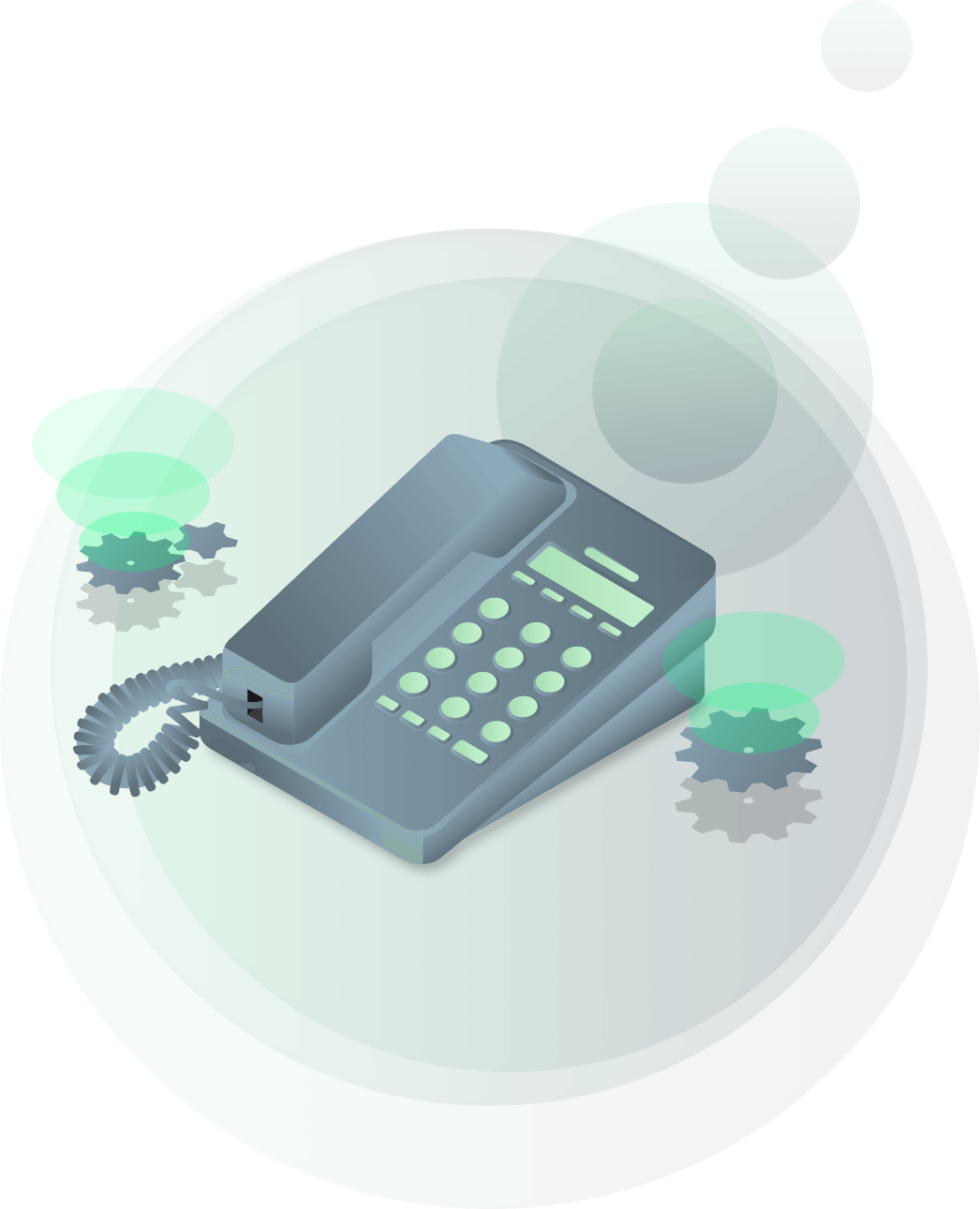 illustration of a hosted phone system