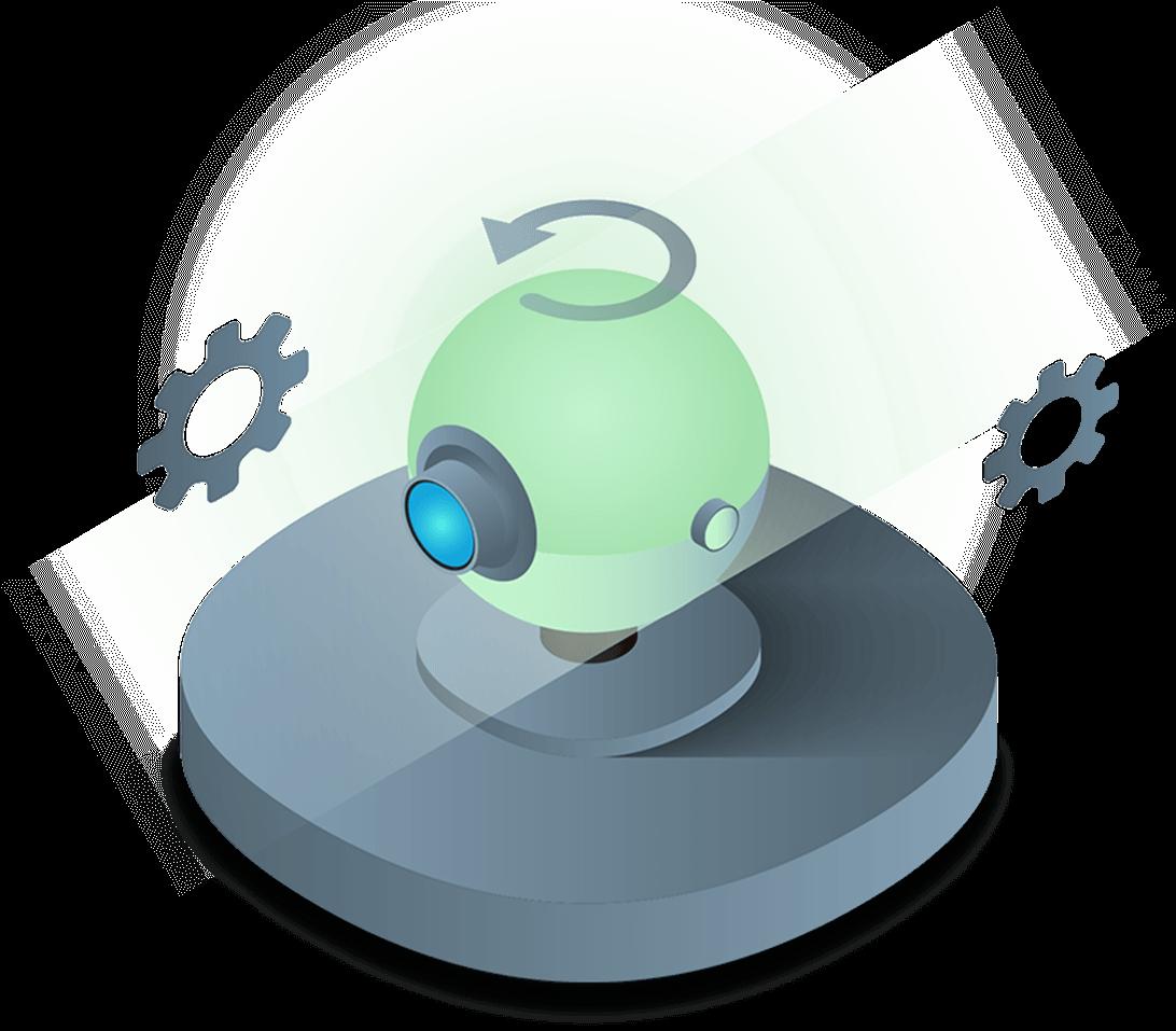 rotating security camera