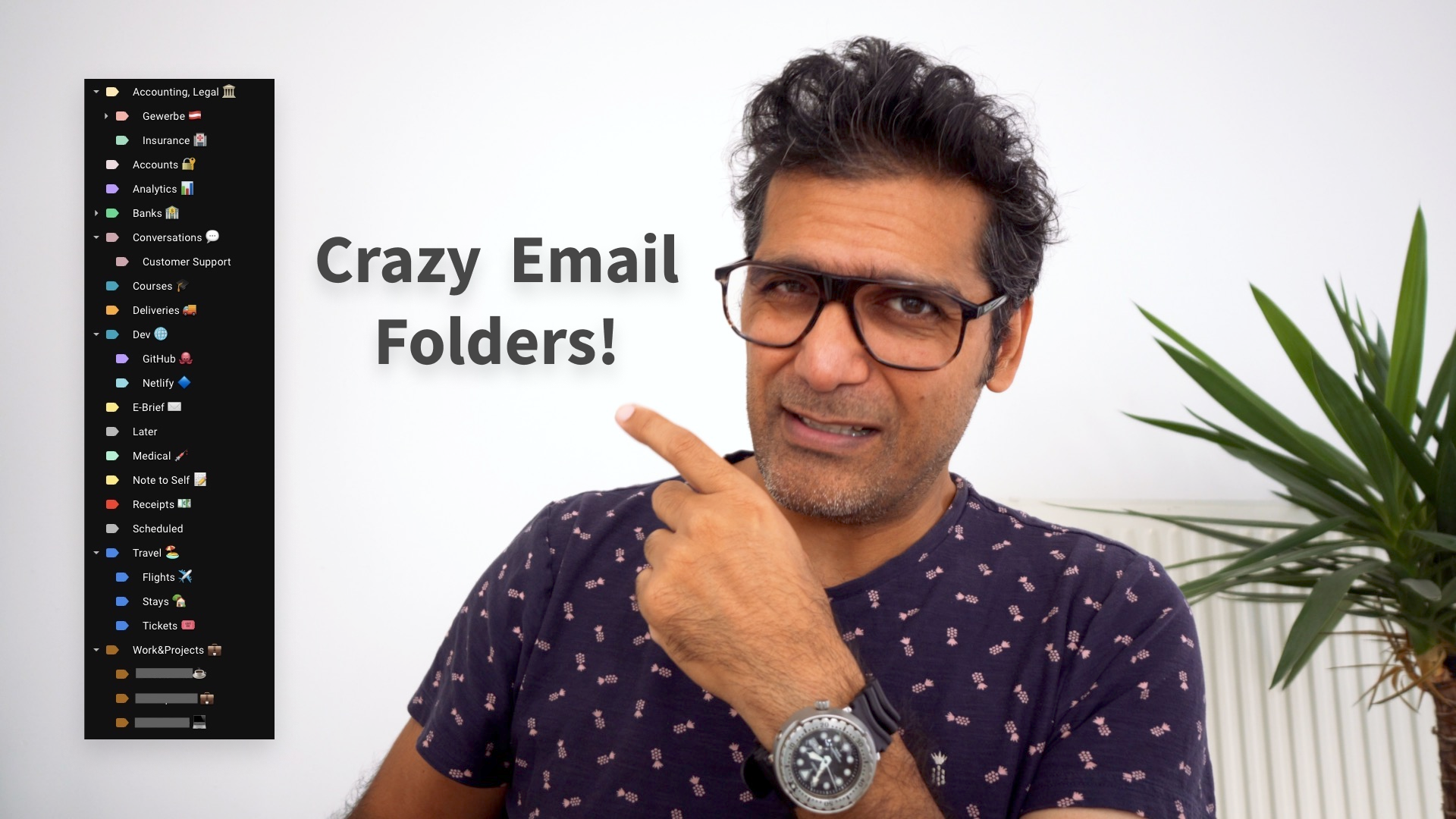Crazy email folders!