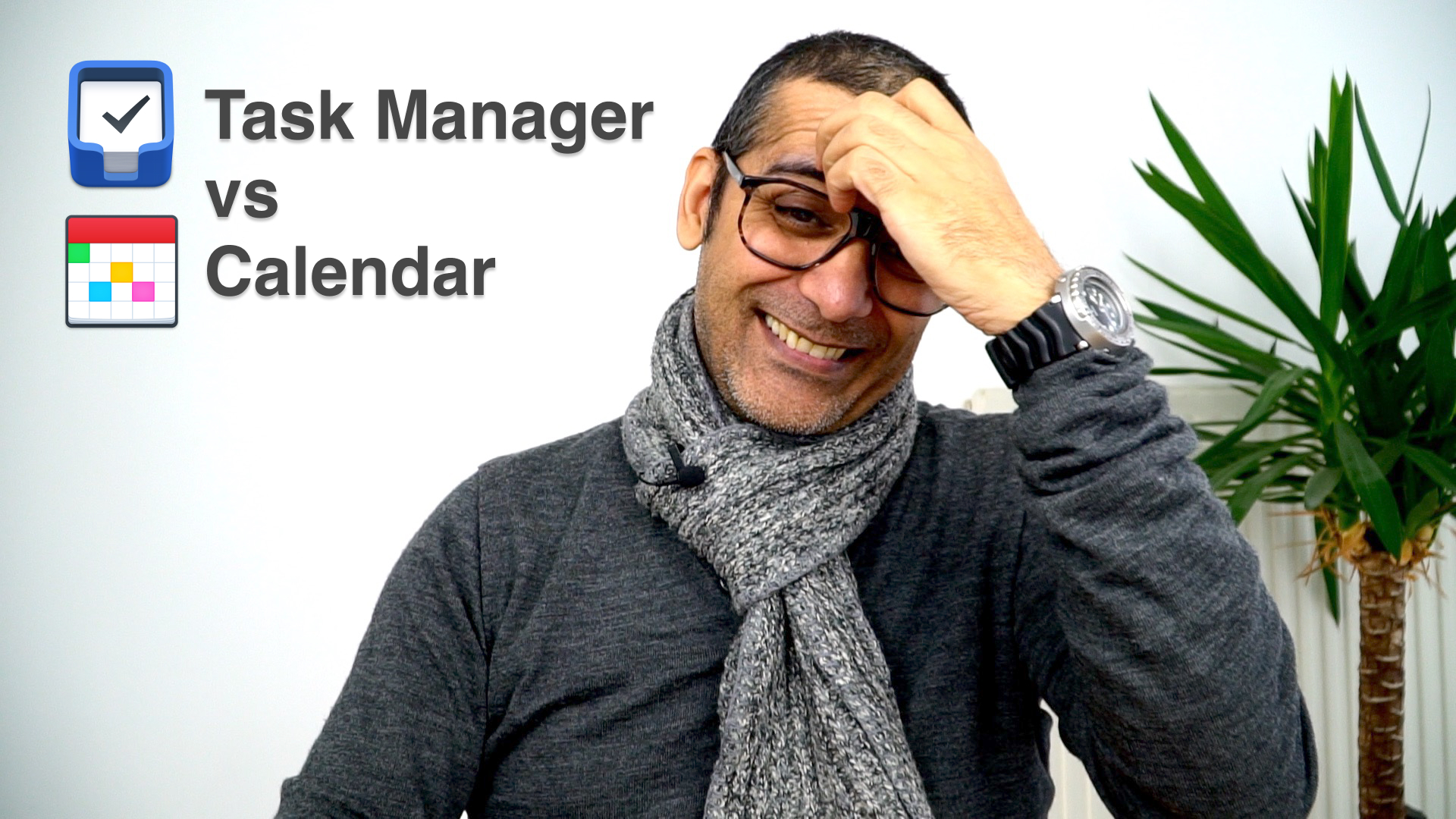 Using a calendar vs a task manager