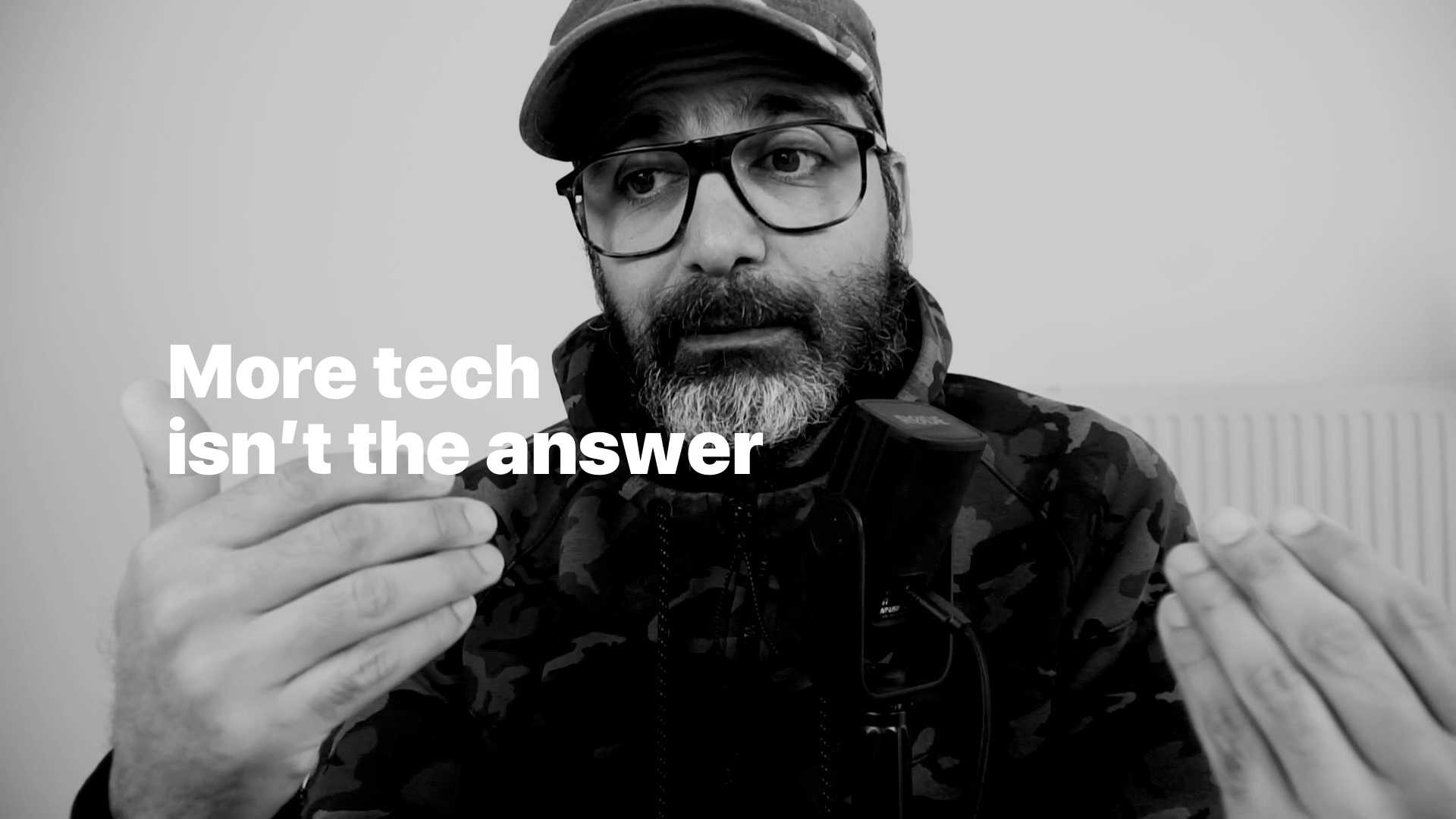 More tech isn't the answer